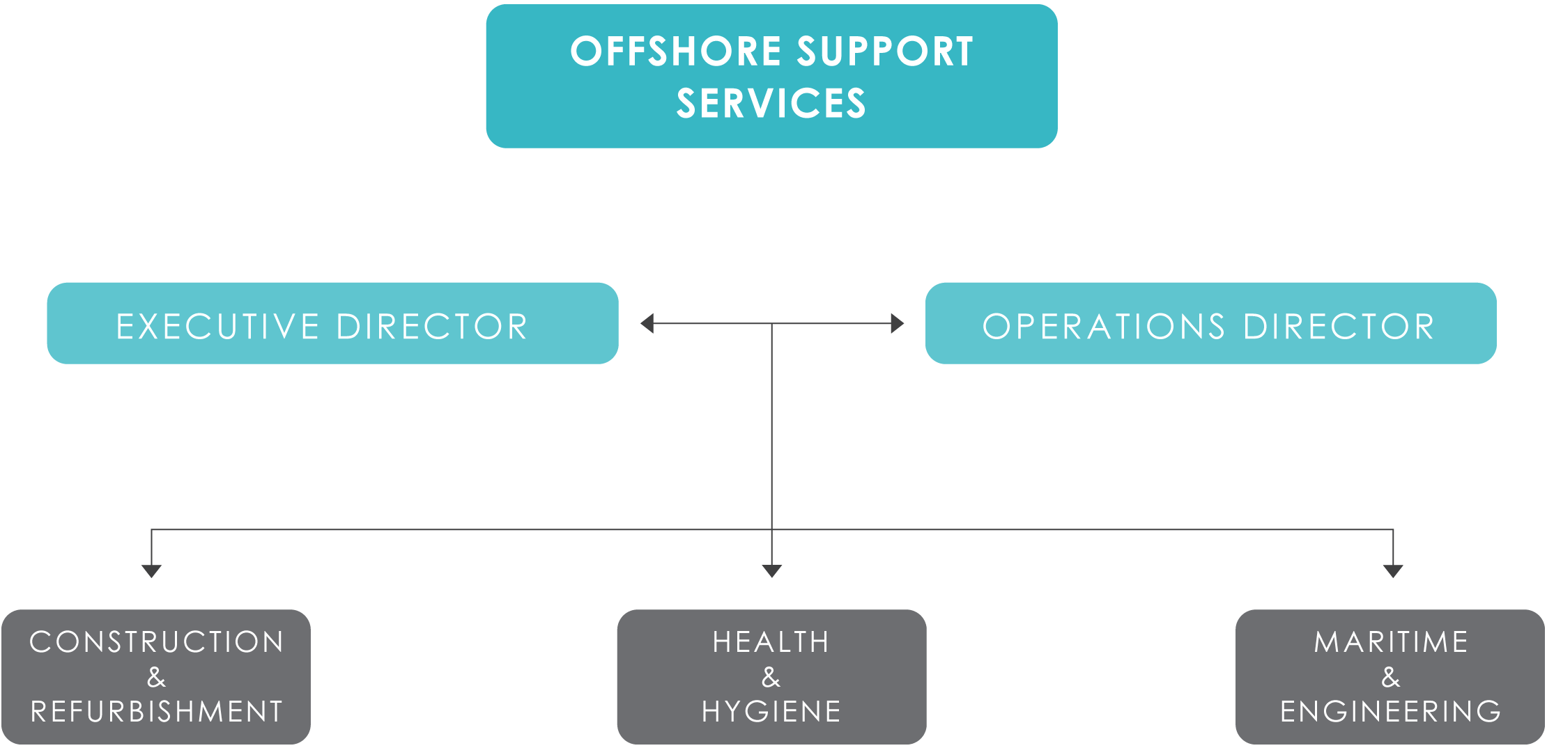 Offshore support services company structure operating organisation