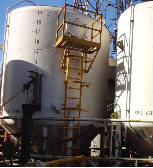 Marine industry dry bulk system p-tank maintenance