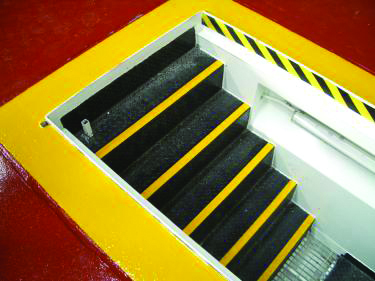 Colour coded non slip step solutions available